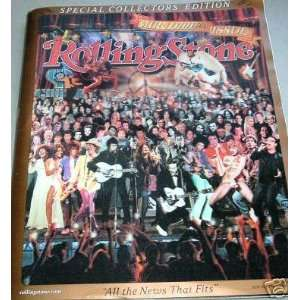 ROLLING STONE MAGAZINE 1000TH ISSUE COLOR LITHOGRAPH