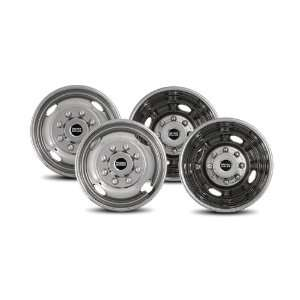 Pacific Dualies 43 1608 Polished 17 Inch 8 Lug Stainless Steel Wheel