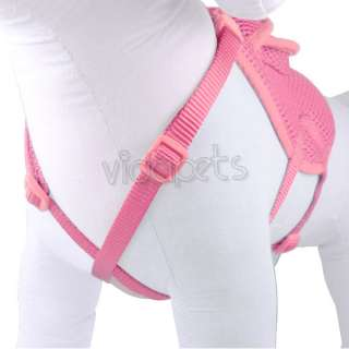 14 18 Pink Backpack Dog Harness Adjustable Comfort Wrap Pet Collar