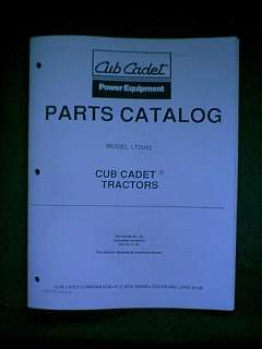 IH CUB CADET TRACTOR MODEL LT 2042 PARTS MANUAL