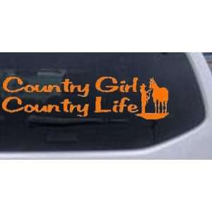 Country Girl Country Life With Horse Country Car Window Wall Laptop