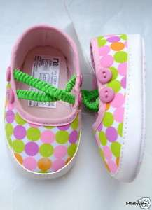 Baby girl colorful polka dots mary jane shoes (0 12M)