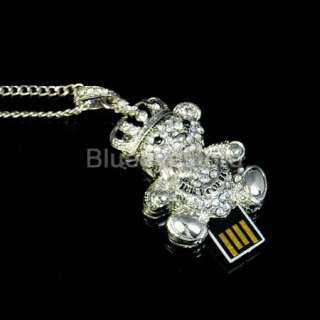 8GB Swarovski Crystal Bear USB 2.0 Flash Memory Pen Stick Drive Really