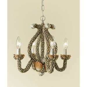 AF Lighting 7078 4H Faux Sea Shells Sanibel Tropical / Safari 4 Light