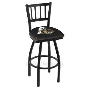 Purdue Boilermakers Logo Black Wrinkle Swivel Bar Stool with Jailhouse