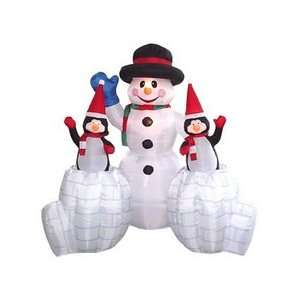6.5 Ft.   Gemmy Airblown Inflatable Christmas Snowman with