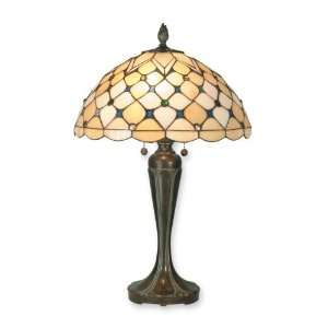 Tiffany TT70729 St. Moritz Table Lamp, Fieldstone and Art Glass Shade