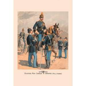 Enlisted Men, Cavalry & Infantry (Full Dress) 20x30 poster