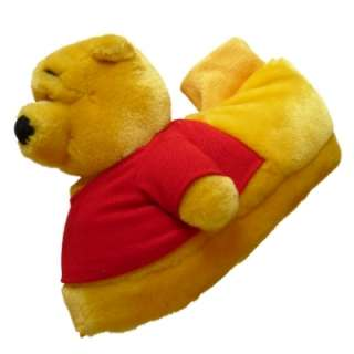 Girls Soft Plush Winnie the Pooh Bear House Slippers