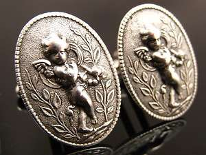 Steampunk Victorian WINGED CUPID Love God Valentines Day Cufflinks ss1