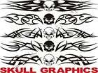 SKULL Windshield Decals Sticker Graphic Tribal Flame