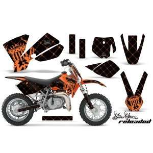 Amr Racing KTM Sx 50 Mx Dirt Bike Graphic Kit   2002 2008 Silver Star