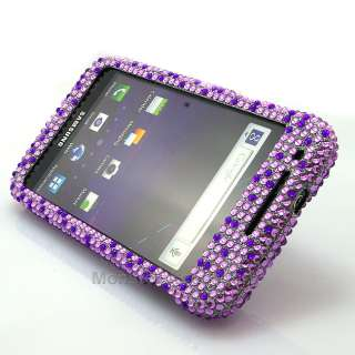 Diamond Purple Heart Bling Hard Case Cover Samsung Galaxy S2 Skyrocket