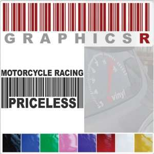 Barcode UPC Priceless Motorcycle Racing Race Racer Bike A724   Pink