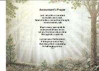 ACCOUNTANT Poem Prayer Personalized Name Forest Print ~