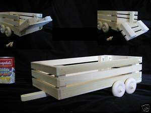 HOMESCHOOL Wood Animal Horse Cow Livestock Trailer Toy*