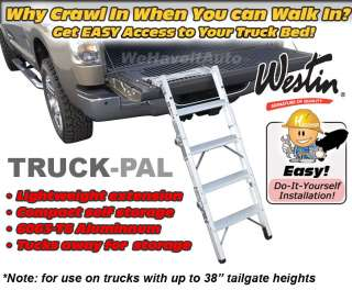 Westin 10 3000 TruckPal Truck Tailgate Bed Step Ladder Chevy Ford