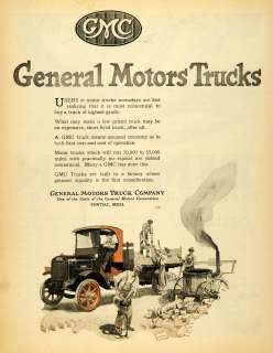 1920 Ad GMC Workers Commercial Trucks General Motors Co Pontiac