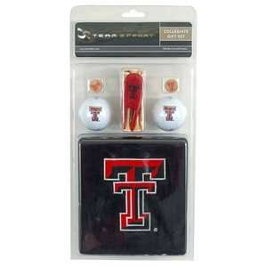 Tech Red Raiders College NCAA Golf Logo Gift Set