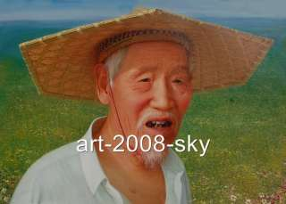 Original Oil painting Portraits artchinese old manon canvas 24x36