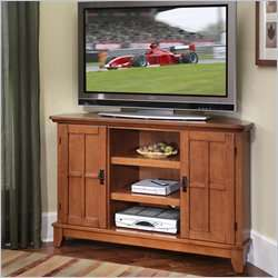 Home Styles Arts & Crafts Corner TV Stand in Cottage Oak Finish