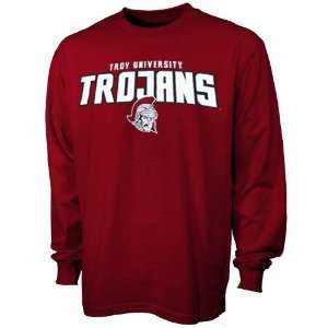 Troy University Trojans Maroon Big Time Long Sleeve T shirt