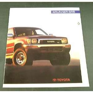 1991 91 Toyota 4RUNNER SR5 Truck SUV BROCHURE Everything