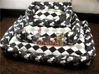Classic diamond check pattern bed or cushion for your dogs and cats