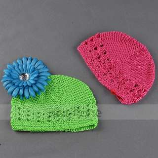 10 X Baby Girl Boy Kid Knit Crochet Beanie Kufi Hat Cap