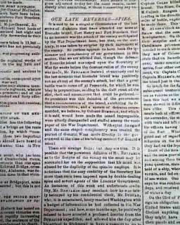 CONFEDERATE Fort Donelson TN 1862 Civil War Newspaper *