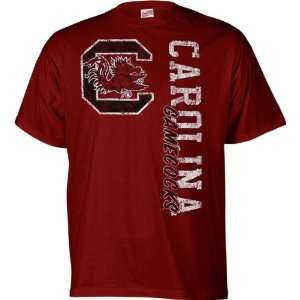 South Carolina Gamecocks Cardinal Primary Cube T Shirt
