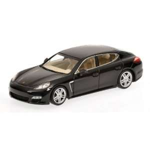 2011 Porsche Panamera Turbo in Black Diecast Model Car in