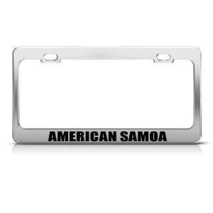 American Samoa Chrome Country Metal license plate frame