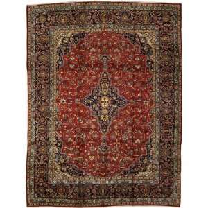 96 x 128 Red Persian Hand Knotted Kashan Rug Furniture