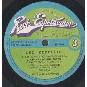 VINYL 45) BRAZILLIAN ROCK ESPETACULAR 1978 LED ZEPPELIN Music