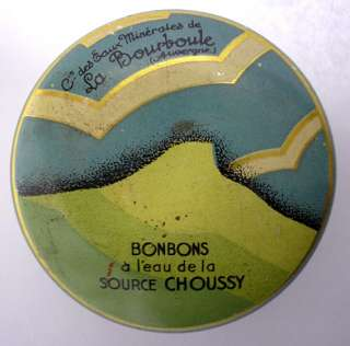 SUPERB FRENCH TIN ART DECO BONBONS CHOUSSY TINY