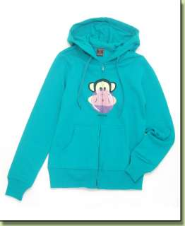 Paul Frank Julius Monkey Bubble Gum Drawstring Hoodie Sweater Jacket