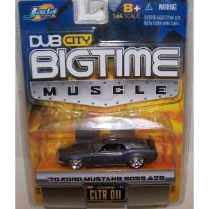 64 Scale Diecast Big Time Muscle 1970 Ford Mustang Boss 428 in Color