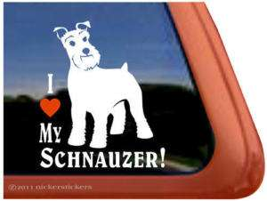 Love My Schnauzer Vinyl Dog Decal Sticker~Super Cute
