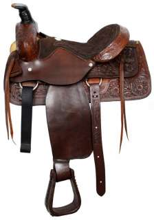 ROPING PLEASURE TRAIL HORSE SADDLE MEDIUM OIL  A GREAT BUY