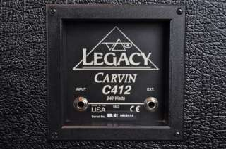 Legacy C412 4x12 Guitar Amp Cabinet Owned & Used by STEVE VAI