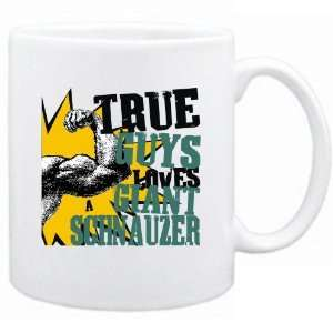 New  True Guys Loves A Giant Schnauzer  Mug Dog