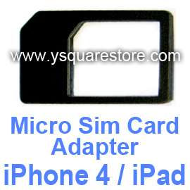 Black Micro Sim Card Adapter Holder +Cutting Cutter Sticker iPhone 4