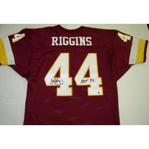 Signed John Riggins Jersey   Red HOF92