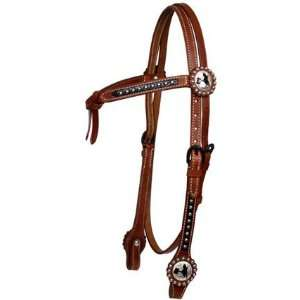 Futurity Knot Bridle With Barrel Racer Concho Rein Set