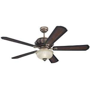 54 Monte Carlo Matise Bronze Ceiling Fan with Light