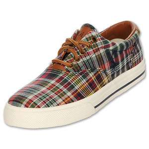 Polo Ralph Lauren Vaughn Mens Shoes Fruit Multi PLAID NEW Canvas and