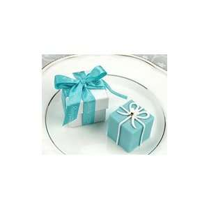 Something Blue Gift Box Candle in Pearlized Box with Satin