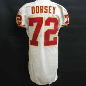 Glenn Dorsey Kansas City Chiefs game used jersey 11/7/10 @ Oakland