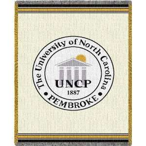 University of North Carolina Pembroke Jacquard Woven Throw